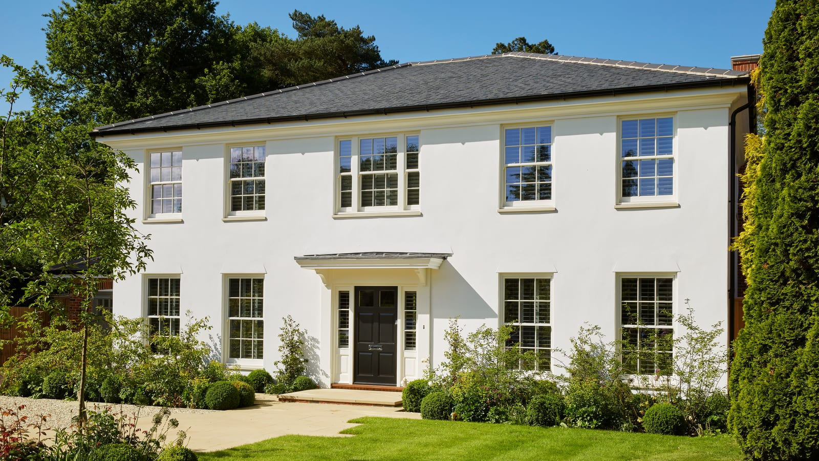 New build with Legacy Spring Sash Windows and Entrance Door