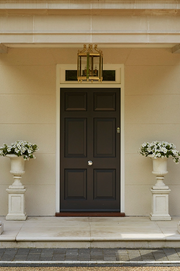 6 panel entrance door in Westbury Black