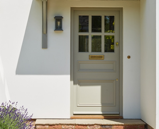 6-panel entrance door