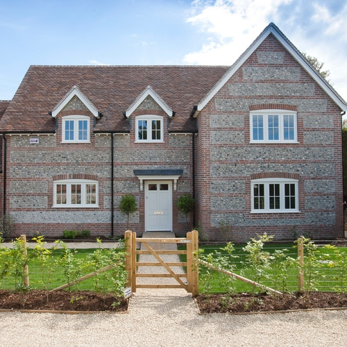 Cottage Style New Build with Casement Windows & French Doors