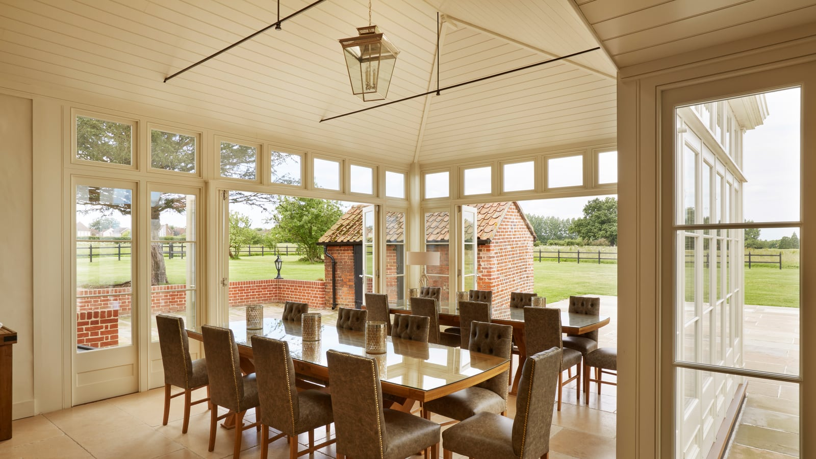 Dining Area inside large orangery