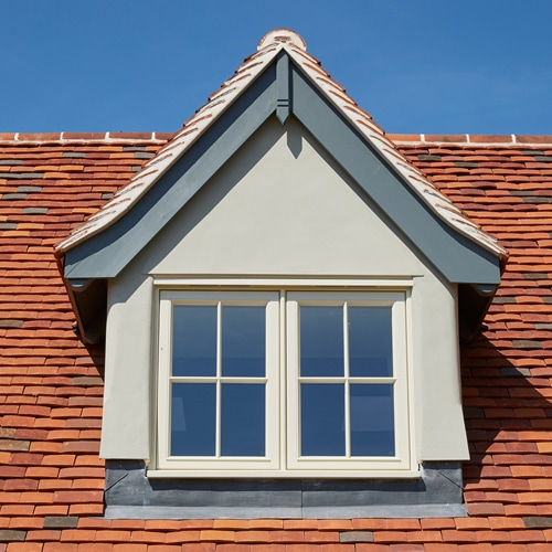 Dormer window in Westbury White