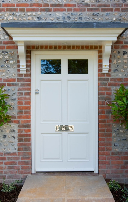 Entrance door raised and fielded 6-panel