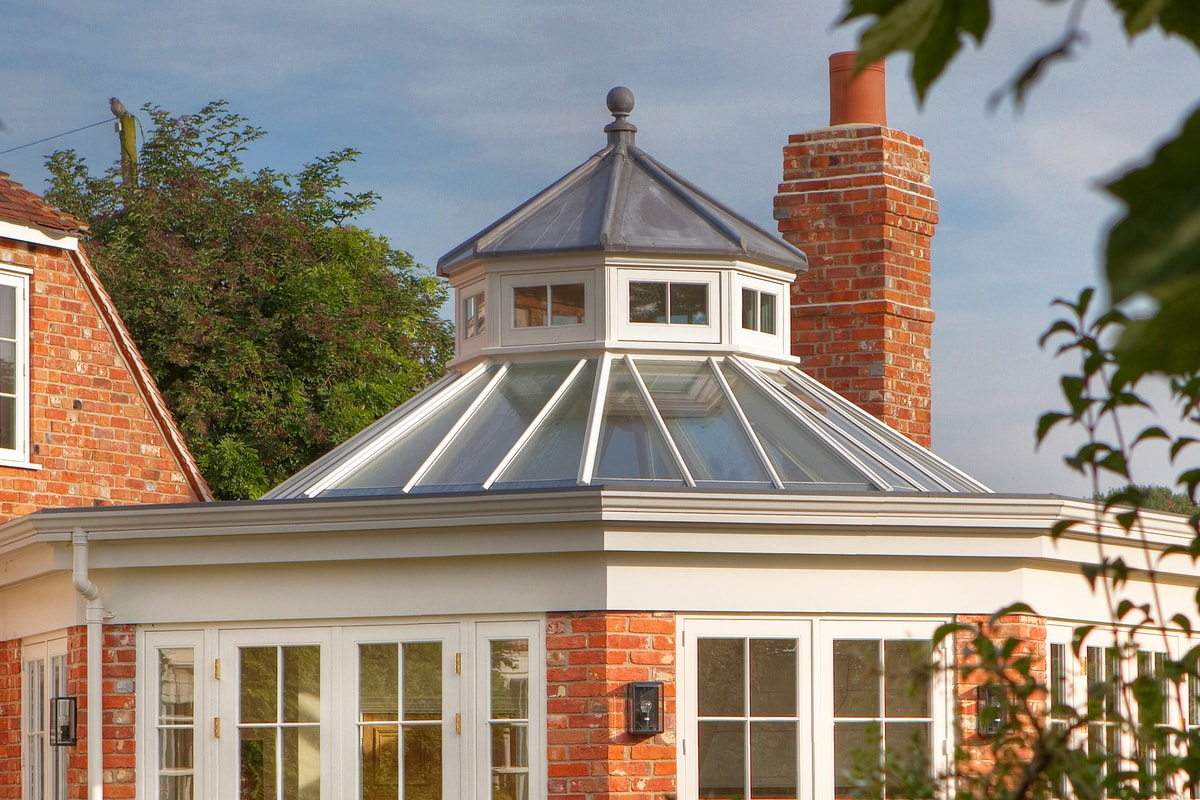 External shot of octaganal roof lantern