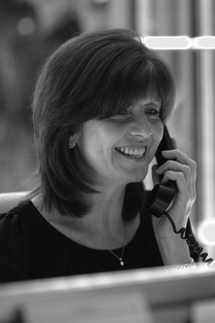 Female Westbury staff member on the phone