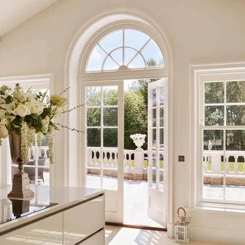 French doors opening onto garden