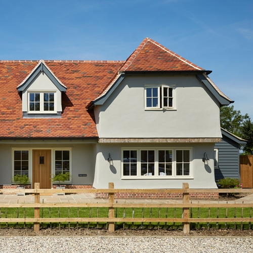 New build property with standard casement windows