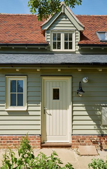 Oak front door painted Westbury White