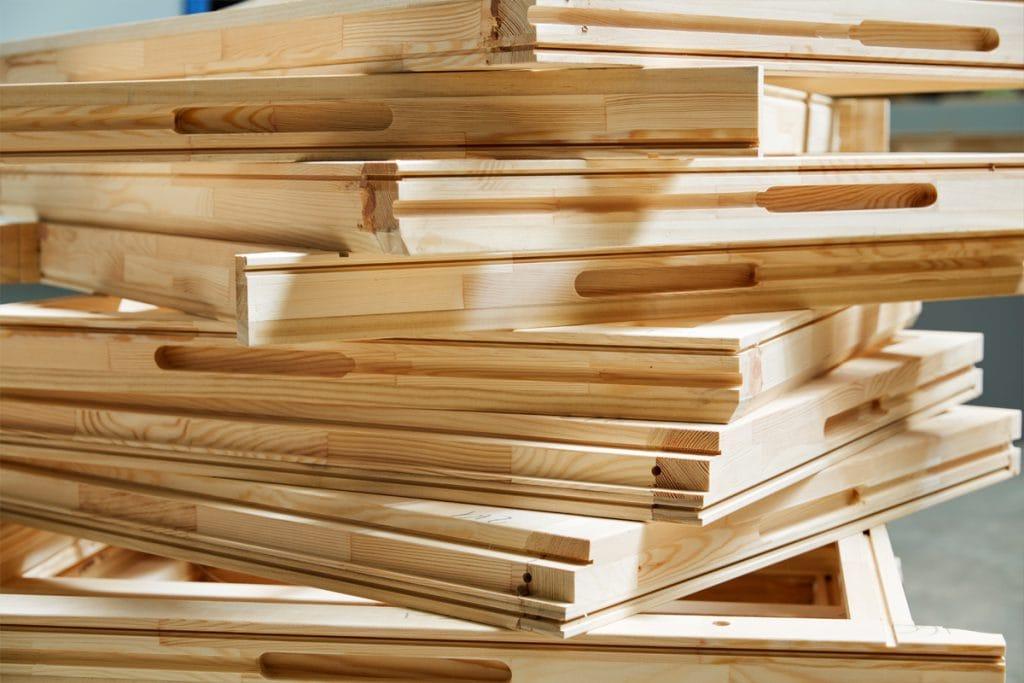 Stack of Accoya wood