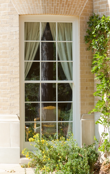 Traditional timber box sash window with high performing double glazing