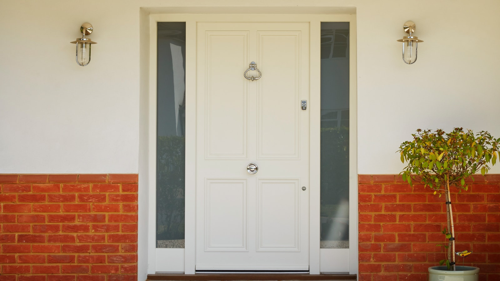 Westbury Front Door painted white