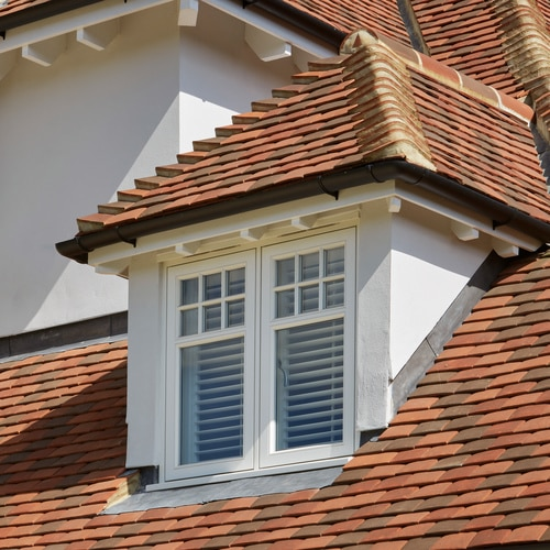 Close up of Casement dormer window