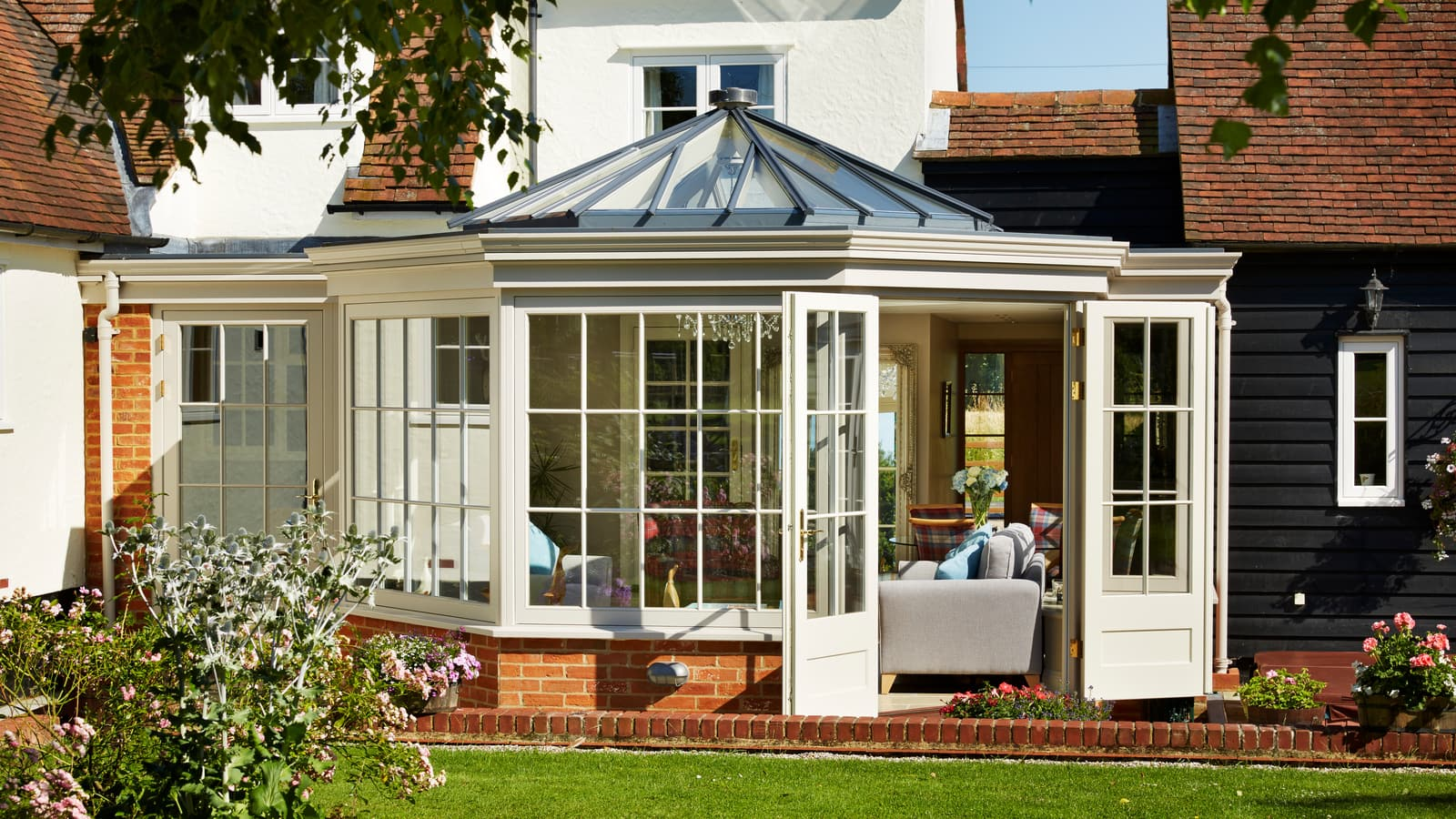 Large conservatory extension listed building