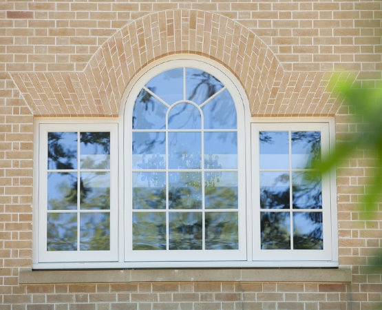 Bespoke fixed casement ornamental arched window