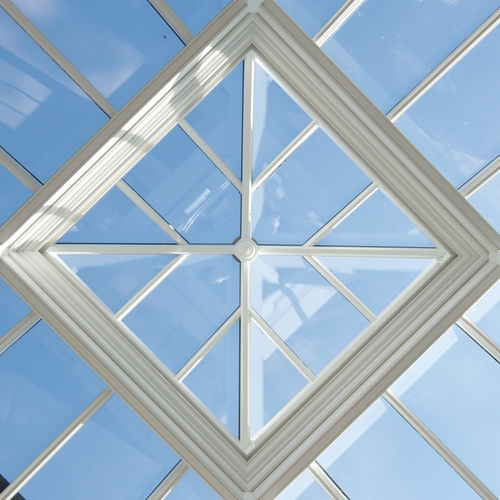 Roof lantern close up
