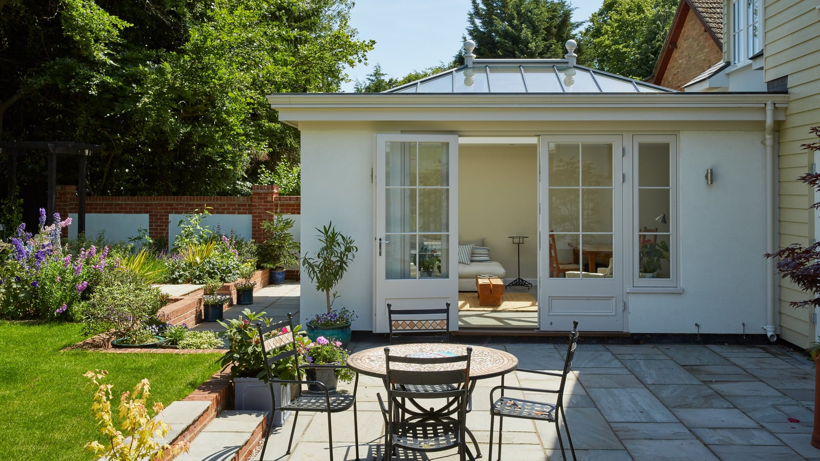Westbury orangery featuring co-ordinating windows, doors and fascia
