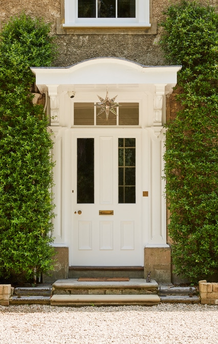 Beautiful white entrance door