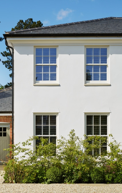 Generously proportioned windows and panes