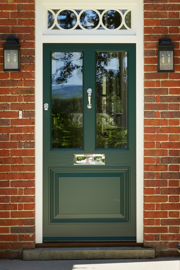 2 Panel glazed entrance door