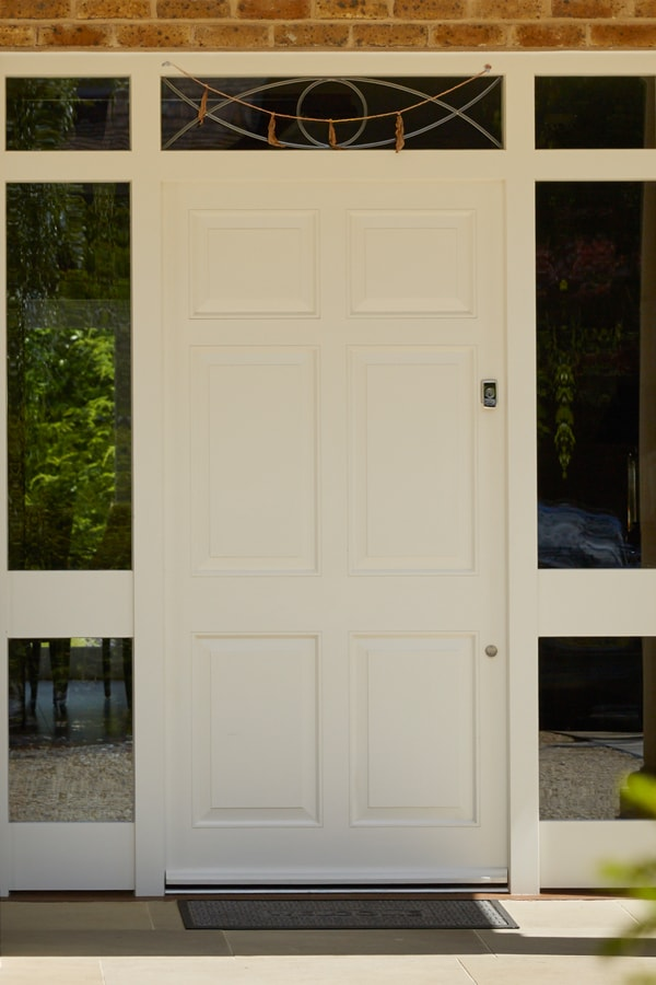 6 panel door Westbury White with sidelights