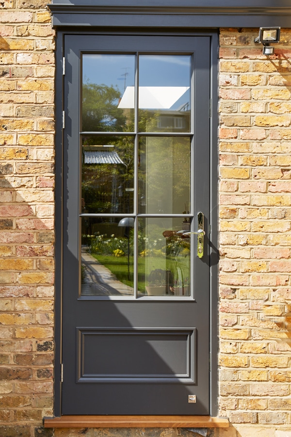 Glazed-Entrance Door Painted Westbury Black