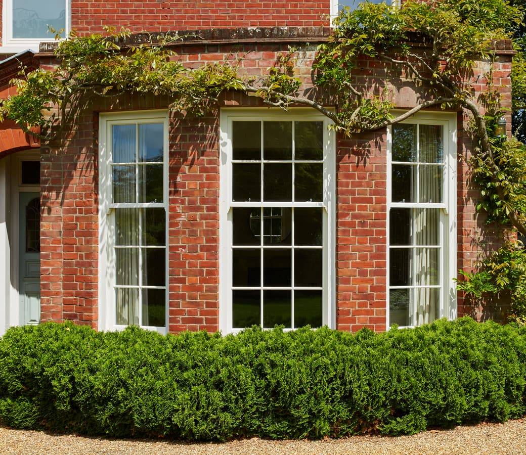 Box Sash Windows fit with original Edwardian bay features