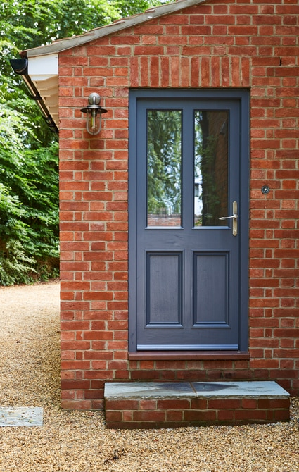 Westbury black grey entrance door