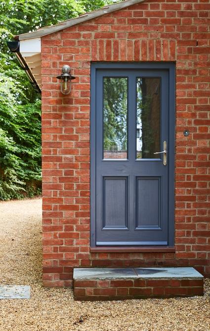 Westbury black grey entrance door