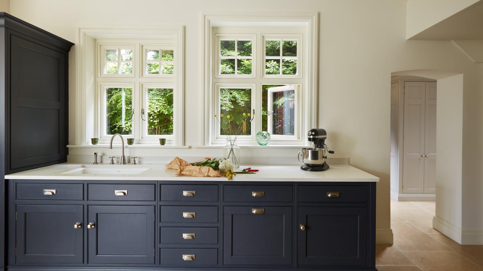 Westbury kitchen extension with casement timber windows