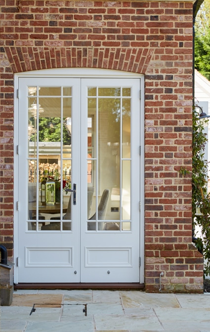 Westbury French doors with margin glazing design