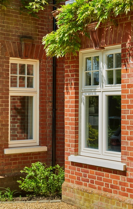 Westbury white timber casement windows