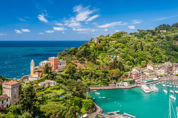 Portofino - stunning harbour with clear blue wateres