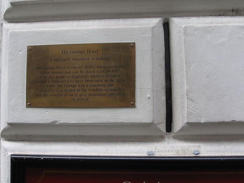 Famous windows - England's smallest window