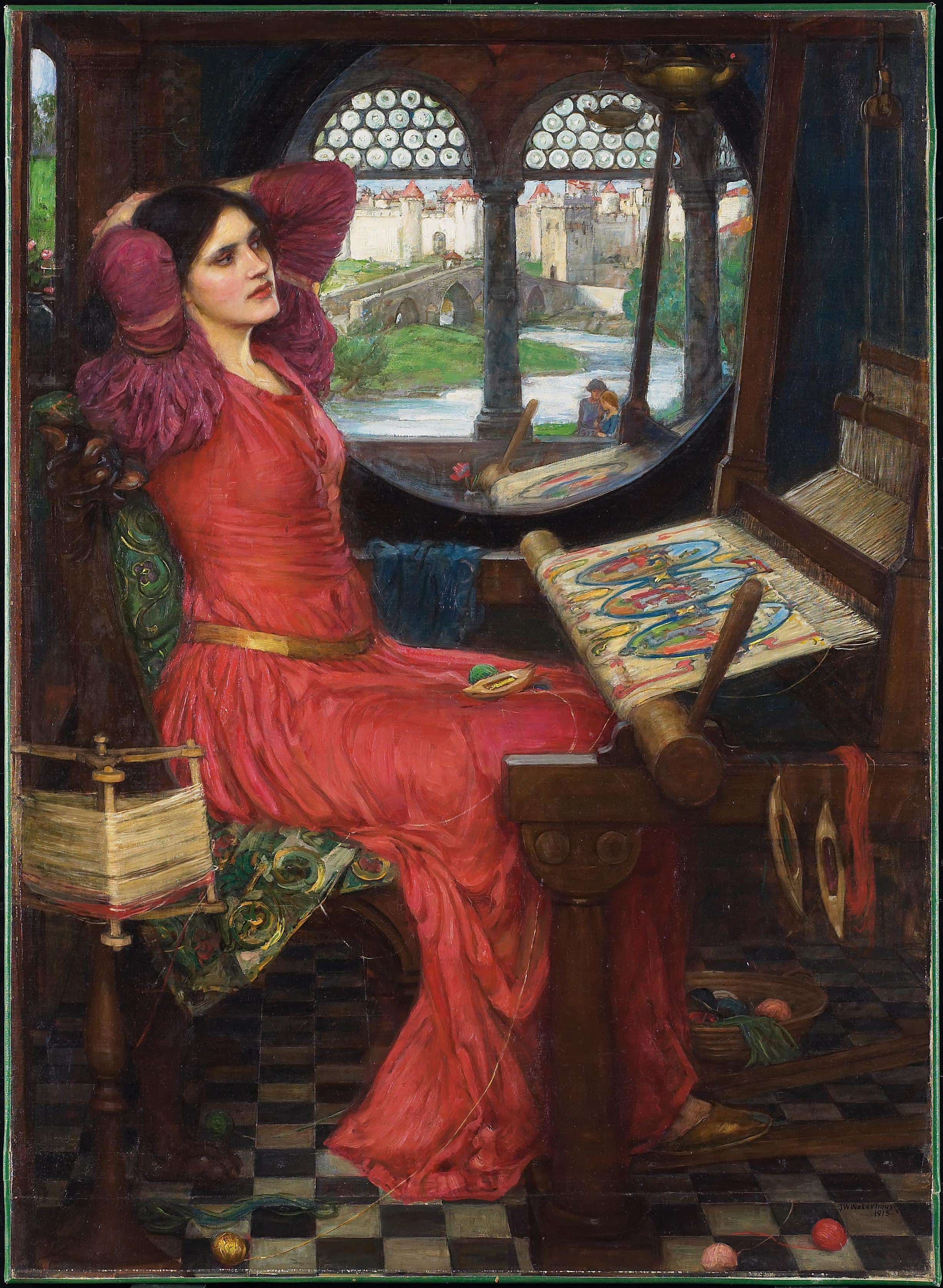 Famous windows - the window in the Lady of Shalott