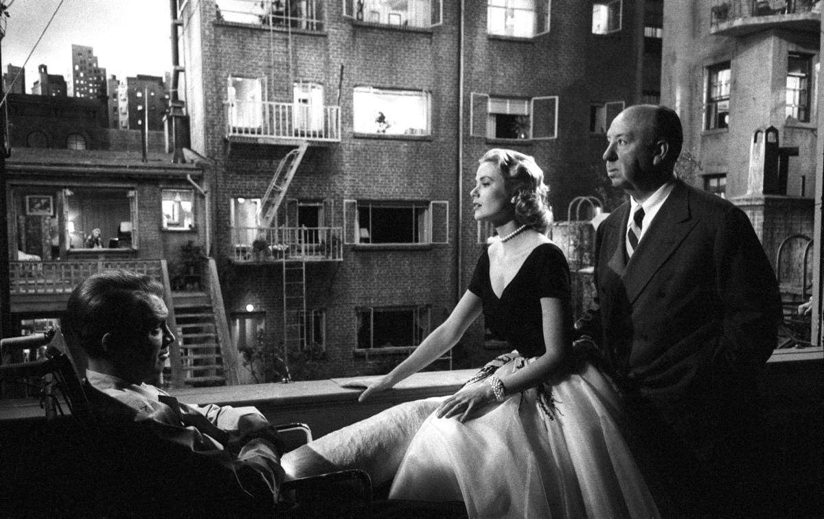 Famous windows - The main characters of Alfred Hitchcock's blockbuster movie sat round the Rear Window