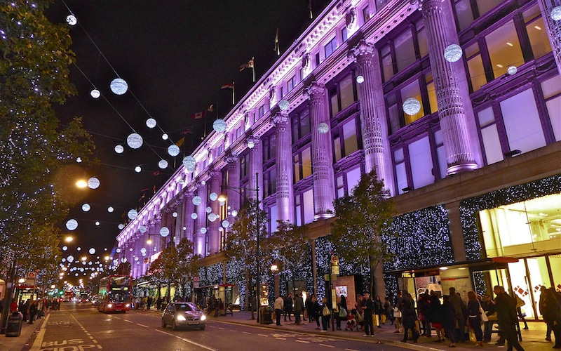 Famous windows - Selfridges' iconic window displays lllit up for the Christmas period