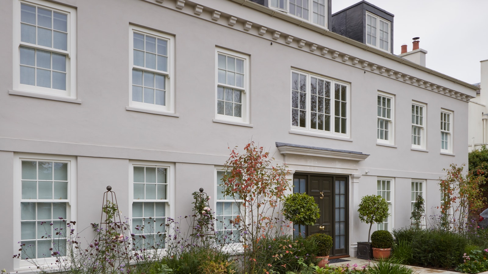 Stylish London home renovated with timber sash windows and doors