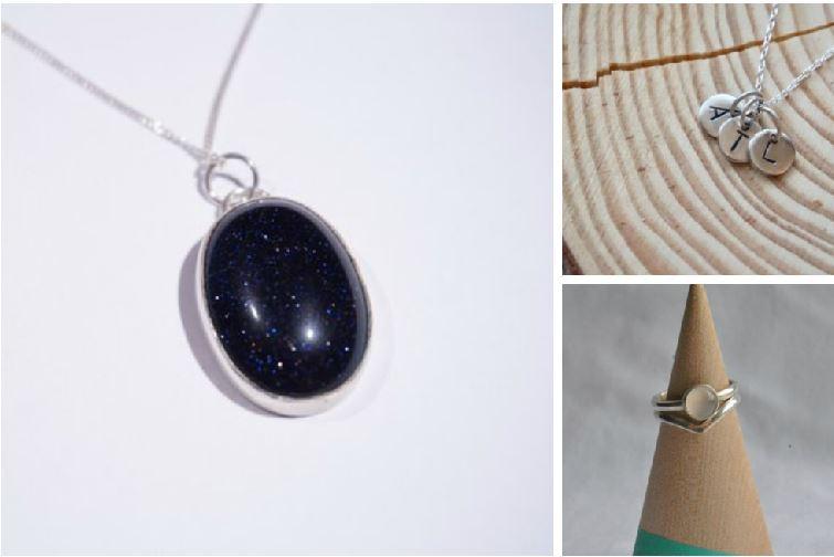 Blue Goldstone Oval pendant