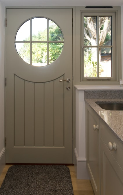 Utility Room Door and Window