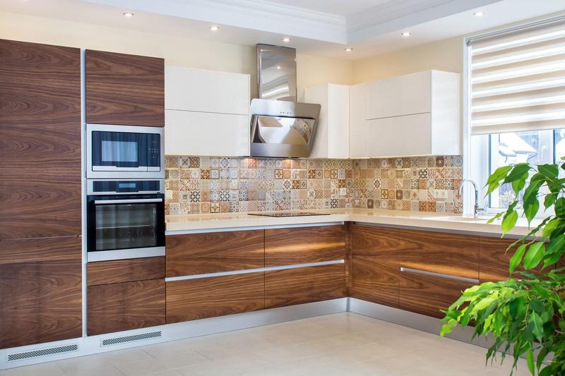 walnut wood kitchen