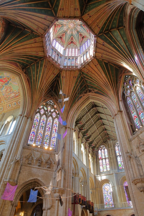 Ely Cathedral's octagonal dome and roof lantern are a wonder of medieval architecture.