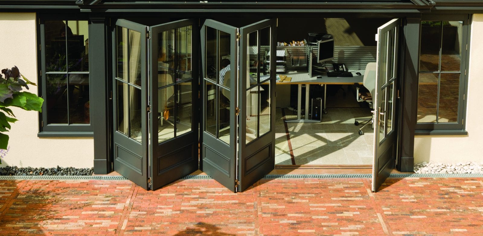 What are bi-folding doors?
