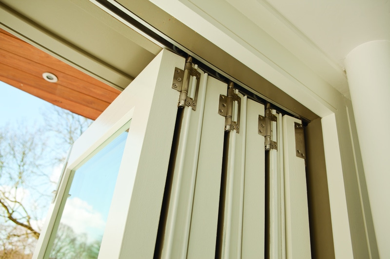 Bi-folding doors use a simple yet clever tracking system fitted along the panels, which ensures a smooth motion.