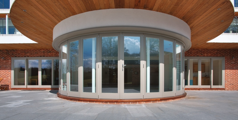 Bi-folding doors allow larger doors to become a feature in themselves, drawing the eye as soon as you walk into the room.