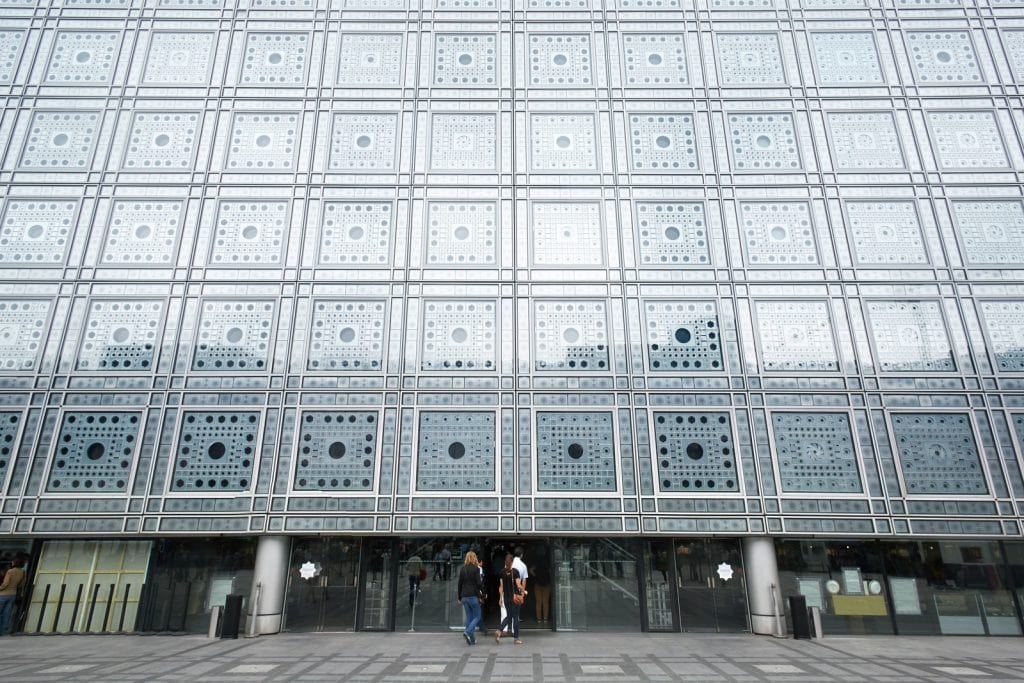 Arab World Institute in Paris (Institut du Monde Arabe) building by Jean Nouvel