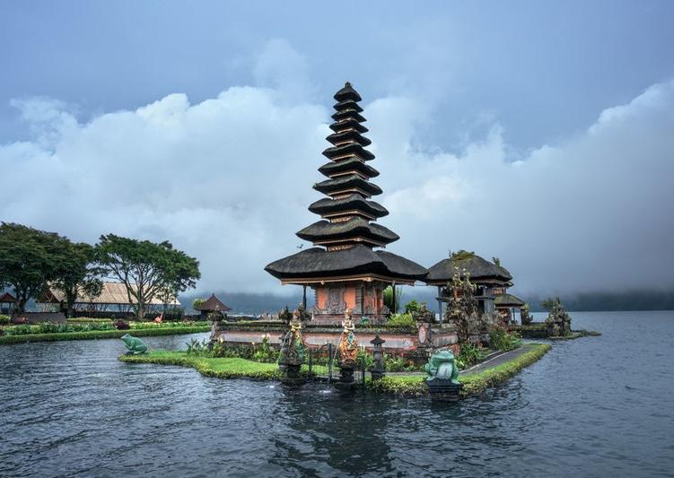 Ulun Danu Beratan Temple and Beratan Lake , Bali ,Indonesia