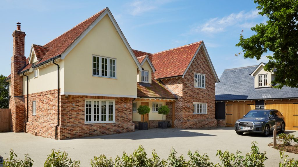 New build home with timber windows and doors