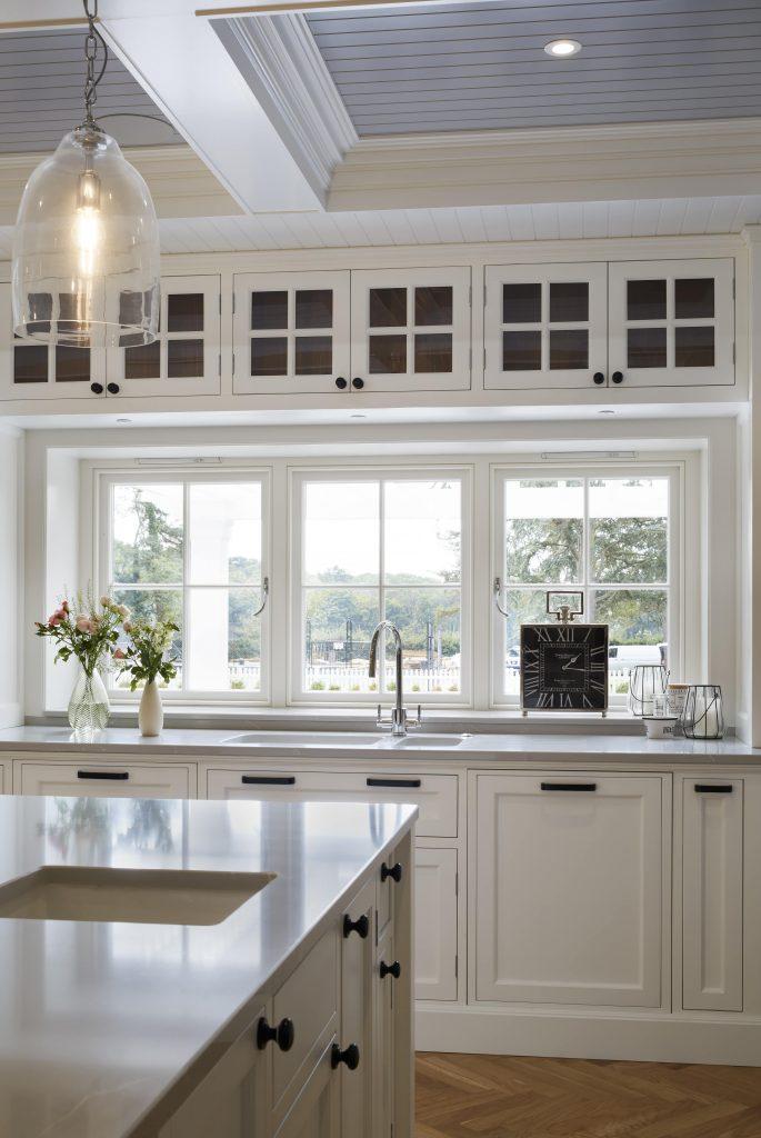 timber windows in kitchen