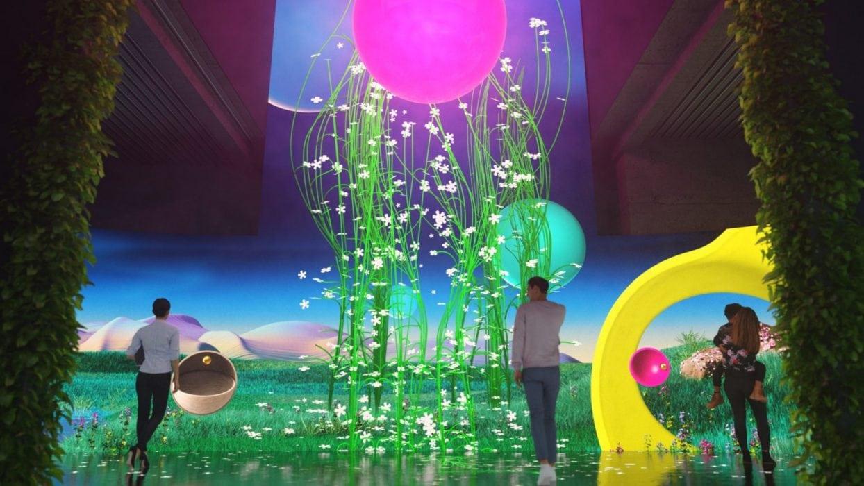 An interactive experience in Berlin by Deutsche Telekom and multimedia design studio flora&faunavisions