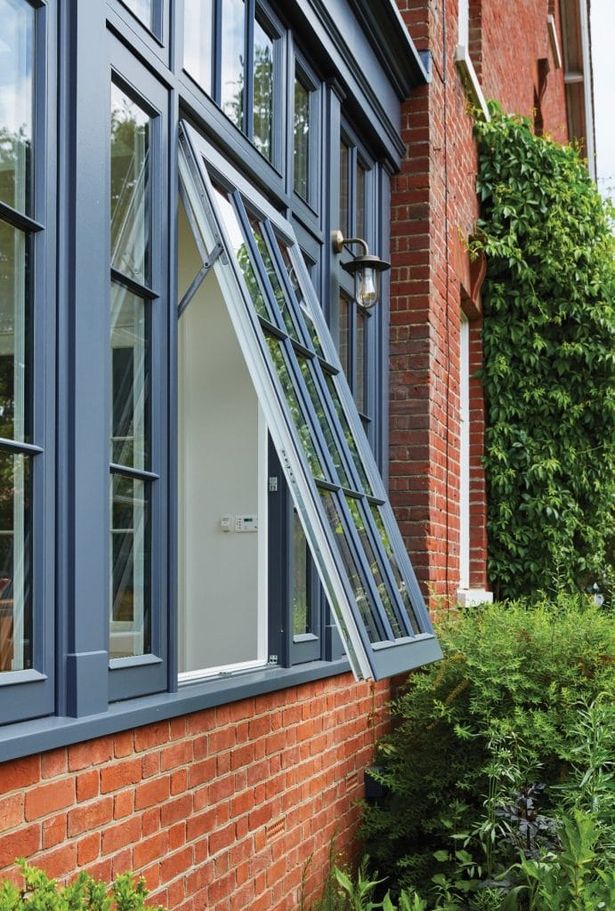 wooden window Top hung friction hinge casement